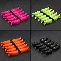 temiz klip art toptan satış-10 adet plastik tırnak sanat Islatıcılar klip kapalı ıslatın kap ucu kullanımlık giyilebilir UV Jel Cila Sökücü temizleyici wrap aracı profesyonel