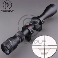 Wholesale Scope Air - Direct Selling New Lens 3-9x40 Mil Dot Air Rifle Gun Hunting Scope Telescopic Sight Riflescope + 11 21mm Mounts