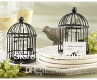 "Wholesale Love Songs Birdcage - Factory directly sale 20pcs lot Wedding favor""Love Songs"" Birdcage soy Tea Light Place Card Holder 052828"