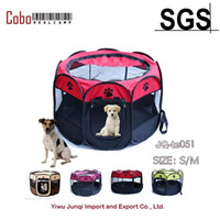Wholesale Fence Dog Kennel - Wholesale- Pet Dog Cat Playpen Tent Portable Exercise Fence Kennel Cage Crate Outdoor Bag