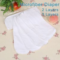 Wholesale Nano Cloth Diaper - Nano Microfiber Washable Diaper Liners For Cloth Diapers Absorbent Reusable Nappies For Babies Newborn Diaper Insert 13x34CM