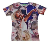 Wholesale Digital Neck Print - Hot Fashion Taylor Swift Women Men T-Shirt Unisex Tee Couples Tshirt 3D Novel Digital Print Short Sleeve Tops Casual Shirt #8106