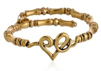 Wholesale Alex Ani Love Wrap - New Alex&Ani antique silver gold plated simple Heart Love Wrap charms and beads Alex and Ani Bangles beaded luckly bracelet for women
