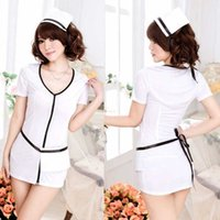 Wholesale Sexy Nurse Wear - Free shipping sexy lingerie white uniforms temptation female sexy nurse wear nursing uniforms role-playing beauty seductive enchanting