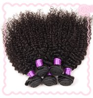 Wholesale Spring Curls Human Hair - Unprocessed Natural Color Remy Hair Extensions Brazilian Indian Peruvian Malaysian Virgin Human Hair Weft 5pcs Mix Length Spring Curl Style