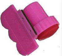 штампованный пластик оптовых-50set для ногтей искусства из нержавеющей стали штамп комплект ногтей штамп + пластиковый скребок нож для изображения краска плиты