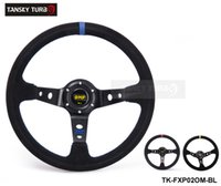 black fuel wheels - Tansky mm Universal Car Auto Racing Steering Wheel Leather Aluminum Frame quot Black Yellow Red Suede leather TK FXP02OM