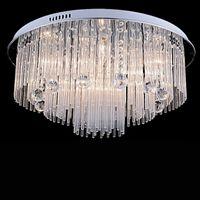 ingrosso alloggiamento per apparecchi di illuminazione-Illuminazione moderna del candeliere a cristallo del LED per la sala da pranzo della camera da letto della casa sulla spiaggia, apparecchi delle lampade del soffitto di cristallo AC110-240V LED