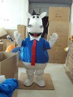 201 Hot new horse mascot costume cute cartoon clothing factory customized private custom props walking dolls doll clothing
