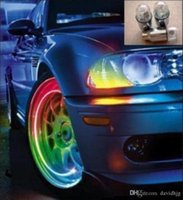 Hot Sale New Auto Car Bicycle Bike Tire Wheel LED Valve Cap Stem Lights Bulb Colorful Livraison gratuite