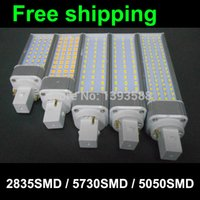 2 broches led g24 ampoule lampe led pl 11W 60smd 2835 downlight e14 led lumière AC85-265V 110V 220V