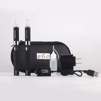 doppelte evod kits elektronische zigarette großhandel-Evod doppel starter kit elektronische zigarette MT3 zerstäuber clearomizer 650 mah 900 mah 1100 mah batterie e zigarette für freies dhl schiff