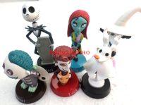 Wholesale Nightmare Before Christmas Figures Set - New Arrival Pop The Nightmare Before Christmas PVC Figures Sally Shock Lock Jack Barrel Toys 6pcs set