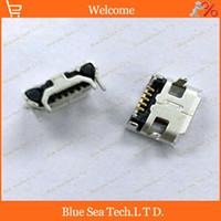 Wholesale Usb Socket Pcb - 50pcs Micro 5P USB Female Jacks Socket PCB Mount for For Phone,Tablet PC,MP3,MP4 etc.5pin micro mini USB