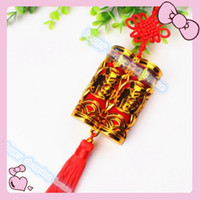 4 unids FU doble PendanTraditional Lindo Chino Nudos Pretty Lucky Car Hanging Accessories DIY Tejiendo Artesanía Colgante Decoraciones Interiores