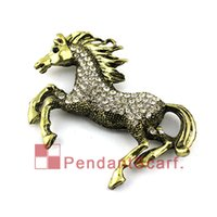 Wholesale Antique Bronze Scarf Jewelry - Antique Bronze Rhinestone Elegant Flying Horse Jewelry Scarf Pendant DIY Necklace Pendant Scarf Charm Accessories, Free Shipping, AC0309