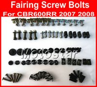Wholesale Motorcycles For Cheap - Cheap Motorcycle Fairing screw bolts kit for HONDA CBR600RR 2007 2008,CBR 600 RR 07 08 CBR 600RR black fairings aftermarket bolt screws set