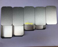 ingrosso casella di caramella semplice-200 pz / lotto trasporto veloce pianura di metallo di colore argento diapositiva in alto scatola di latta, caso scatola di caramella usb rettangolo