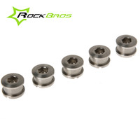 Wholesale Titanium Chainring - RockBros Bike Bicycle Cycling Titanium Crankset Chainring Bolts Nuts M8 for Fixed Gear Track 5pairs Lot