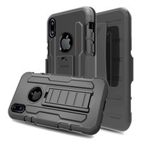 Wholesale Heavy Leather Belt - For iPhone X Heavy Duty Case with Belt Clip Cellphone Protective Cover Skin for iPhone 8 8 Plus 7 6 6s