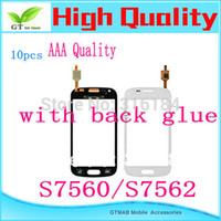 Wholesale Galaxy Ace 2x - Wholesale-10pcs lot hotsale AAA quality touch screen digitizer for Samsung Galaxy Ace 2X S7562 S7560 Trend Duos touch screen White