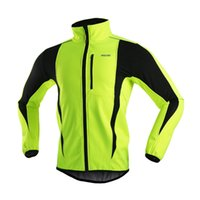велосипедная одежда оптовых-Wholesale-ARSUXEO 2016 Winter Running Jacket Cycling Thermal Fleece Coat Bicycle Bike Windproof Waterproof Fitness Jersey Outdoors Clothes