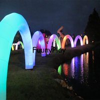 Wholesale Inflatable Field - Wholesale- Inflatable led light airgate for wedding valentine decoration sale,inflatable halloween arch,inflatable advertising arch way