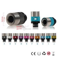 Wholesale Mechanical Mod Drip - Latest 510 Drip Tips Adjustable airflow Wide Bore Drip Tips 510 Chaplin Antislip Drip Tip for RDA RBA DCT mechanical mod Vaporizer Atomizer