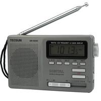 Wholesale Digital Clock Radios - Portable TECSUN DR-920C FM MW SW 12 Band Radio Digital Clock Alarm & Night Backlight Y4139H