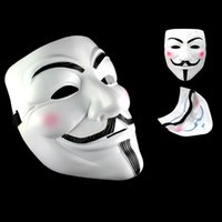 Wholesale Guy Fawkes Mask Costume - Party Masks V for Vendetta Masks Anonymous Guy Fawkes Fancy Dress Adult Costume Accessory Party Cosplay Masks