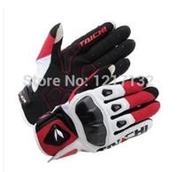 taichi yarış eldivenleri toptan satış-Toptan-2015 yeni gelmesi rs taichi T411 motosiklet eldiven moto koruma karbon fiber yarış eldiven erkek kadın tam parmak şövalye eldiven