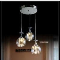Wholesale Wholesale Drop Ceiling Lighting - Modern K9 Crystal Ceiling Light Wine glass Pendant Lamp 1 heads 3 heads 6heads style Rectangle chandelier led drop light hanging light glass