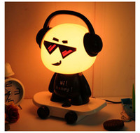 Wholesale Dj Cute - Music Boy Small Desk Lamp Bed Head Night Light Table Lamp DJ Skateboard Cute Boy Night Light Cartoon Desk Lamp Creative Lamp