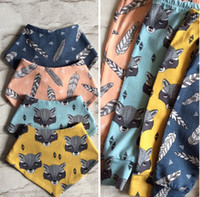 Wholesale Cheap Harems - 2016 Children's harem pants fox head printing baby PP pants casual pants cheap baby cartoon boy pants in stock 12pcs S1