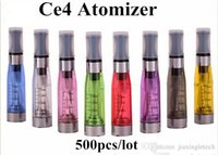 Wholesale Ce4 Vaporizer Clearomizer Factory - 2015 factory e cigarette ego ce4 atomizer 1.6ml Seven colors vaporizer ego ce4 clearomizer cartomizer CE4 electronic cigarette 500pcs DHL