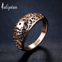 Al por mayor-Iutopian Brand Simple Style Hallow Pattern Ring Wholesale Love Gift Party Top Quality # RA13599