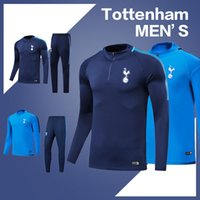 Wholesale Long Sleeve Adult Soccer Kits - Adult soccer Jersey kit 2017 18 maillot training suit football camiseta futbol chandal De Futbol long sleeve Tracksuits kit Jacket