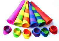popsicle trays groihandel-Silikon-Eis am Stiel-Form-Eis-Pop-Form-Eiswürfelbehälter-Eiscreme-Wannen-Werkzeuge