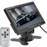 Wholesale Video Vcr - New arrive 7 Inch TFT LCD Color 2 Video Input Car RearView Headrest Monitor DVD VCR Monitor CMO_380