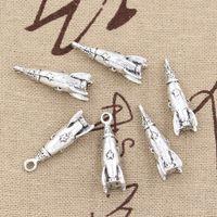 Wholesale Rocket Necklace - 50pcs Charms rocket 24*9*9mm Antique,Zinc alloy pendant fit,Vintage Tibetan Silver,DIY for bracelet necklace