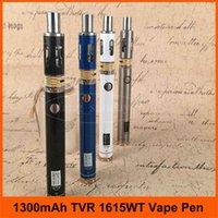 Wholesale Ego Usb Pass - Super Vapor 1300mAh TVR 1615 WT Variable Voltage eCig Starte Kit eGo Vape Pen USB Pass through E Cigarette