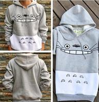 tolets totoro venda por atacado-Newst homens / mulheres unisex camisola harajuku dos desenhos animados totoro camisolas animal patchwork hip hop Streetwear 3d pullover hoodies