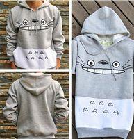 totoro sweatshirts großhandel-Newst Männer / Frauen Unisex Sweatshirt Harajuku Cartoon Totoro Sweatshirts Tier Patchwork Hip Hop Streetwear 3D Pullover Hoodies