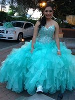 Wholesale Girls Petticoats Floor Length - In Stock Beading Sweetheart Floor Length Quinceanera Dresses 2015 Ball Gowns Girls Sweet 16 Masquerade Prom Dress (A Petticoat For Free)