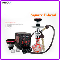 Single mix Metal Square e head ehead e hose mini shisha Square hookah head Cartridge Refillable ehookah Disposable Hookah 2400MAH Vaporizer E Cigarette Kit