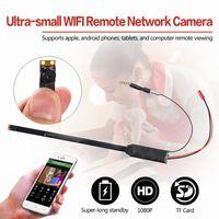 Wholesale Network Diy - New Ultra-small WiFi Remote Network Camera Module A1 Full HD 1080P Mini Hidden Camera H.264 Format 12MP COMS Lens DIY Module Camera