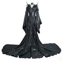 Wholesale Movies Angelina Jolie - 2015 New Movie Maleficent Cosplay Customes Suits Fashion Christmas Costumes Halloween Angelina Jolie Same Theme Costume