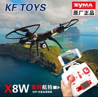 Wholesale Smart Rc Helicopter - Syma X8W Camera Drone RC Helicopter Wifi FPV Real-Time Quadcopter with 2MP Camera SD Card Smart Phone Wifi Control VS X8C