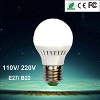 лучшие b22 светодиодные лампы оптовых-Высокое качество супер яркий лучший энергосберегающие светодиодные фонари 110 В 220 В E27 B22 база 3 Вт 5 Вт 7 Вт 9 Вт 12 Вт светодиодные лампы прожектор глобус свет лампы для дома
