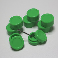 Wholesale 5ml Container Green - MOQ 100pcs GREEN COLOR 5ml wax silicone container butane hash oil containers silicon platinum cured silicone jars wax dab slick container